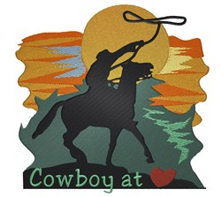 Cowboy at Heart embroidery design