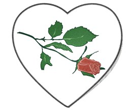 Heart with Rose embroidery design