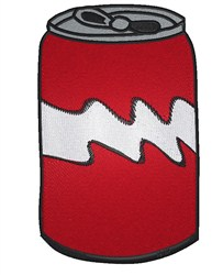 Pop Can embroidery design