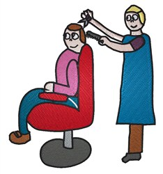 Barbershop Cartoon embroidery design