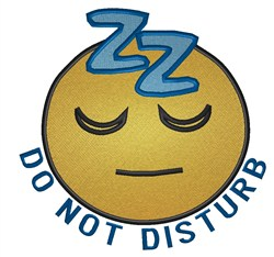 Do Not Disturb Smiley embroidery design