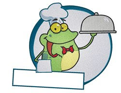 Frog Chef embroidery design