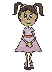 Standing Girl embroidery design