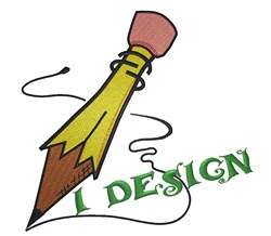 I Design Pencil embroidery design
