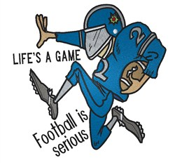 Football is Serious embroidery design