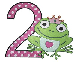 Princess Frog #2 embroidery design