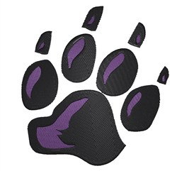 Panther Paw embroidery design