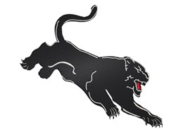 Attacking Panther embroidery design