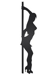 Pole Dancer Silhouette embroidery design