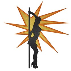 Backlit Pole Dancer embroidery design