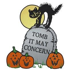 Halloween Tombstone embroidery design