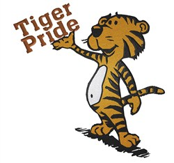 Tiger Pride embroidery design