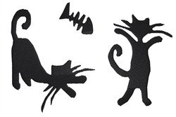 Cats Silhouette embroidery design
