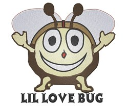 Smiling Love Bug embroidery design