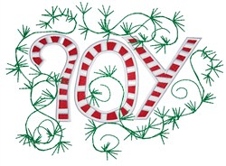 Joy Candy Canes embroidery design