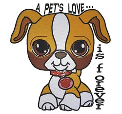 Cute Little Puppy embroidery design