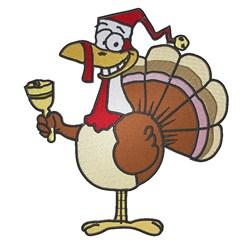Santa Turkey embroidery design