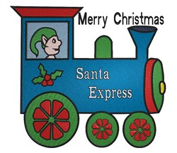 Santa Express embroidery design