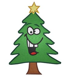 Cartoon Christmas Tree embroidery design