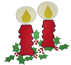 Christmas Candles embroidery design