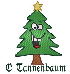 Tannenbaum Christmas Tree embroidery design