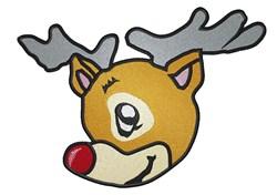 Rudolph Head embroidery design