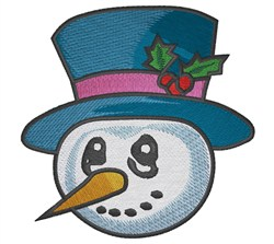 Snowman in Tophat embroidery design