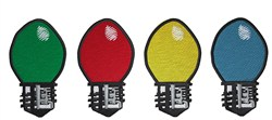 Christmas Light Bulbs embroidery design