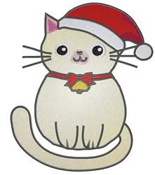 Santa Kitty embroidery design