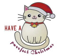 Purrfect Christmas embroidery design