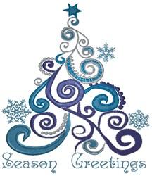 Season Greetings Tree embroidery design