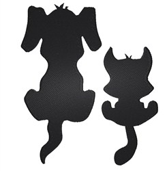 Dog & Cat Silhouettes embroidery design
