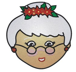 Mrs Santa Claus embroidery design