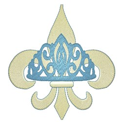 Royal Fleur De Lys embroidery design