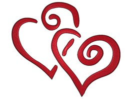 Curly Hearts embroidery design