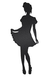 French Maid embroidery design