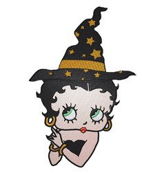 Betty Boop Witch embroidery design