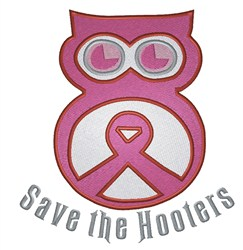 Cancer Hooters embroidery design