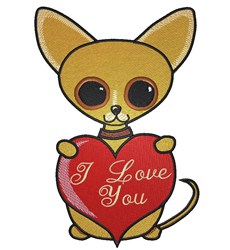 Chihuahua Love embroidery design