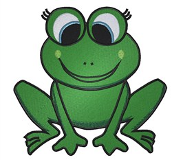 Sitting Frog embroidery design
