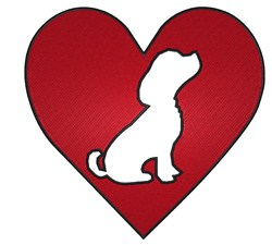 Puppy in Heart embroidery design