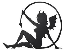 Devil Girl embroidery design