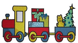 Christmas Train embroidery design