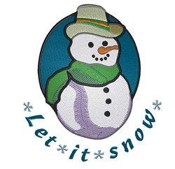 Snow Snowman embroidery design