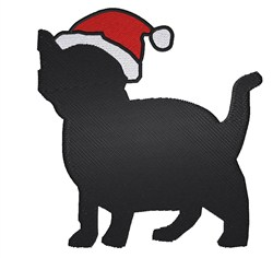Santa Cat embroidery design