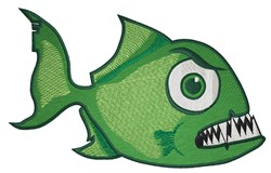 Angry Piranha embroidery design