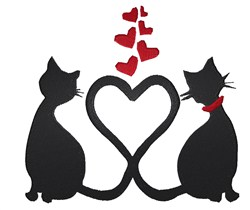 Valentine Cat embroidery design