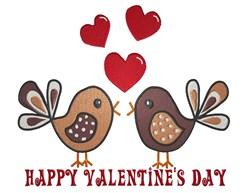 Valentines Birds embroidery design