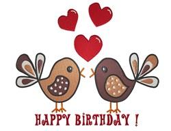 Birthday Birds embroidery design