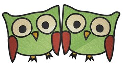 Two Owls embroidery design